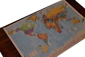 World Map Artwork by The Crafty Novice Diy String Art World Map