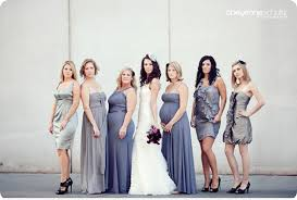 bridesmaids dresses purple silver latest fashion style