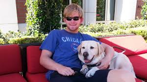 Blind Dog And His Guide Dog A Blind Football Player Joins His Trojan Heroes On The Field Npr