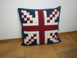 Knitted Cushions Free Patterns Emmhouse Feeling Patriotic Union Jack Pillow Cushion Cover