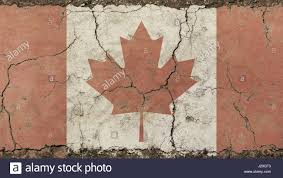 Canada Flag Colors Old Grunge Vintage Dirty Faded Shabby Distressed Canadian Canada