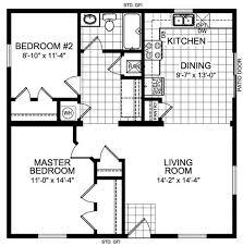 2 Bedroom 1 Bath House Plans Guest House 30 U0027 X 25 U0027 House Plans The Tundra 920 Square Feet
