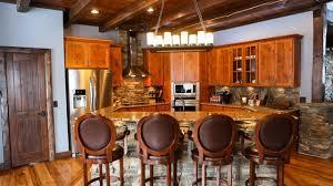 blue kitchen cabinets in cabin 5 log cabin kitchen design ideas northern log