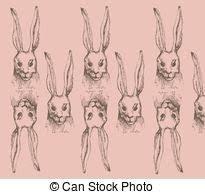 vector clip art of cute lovable rabbit vector illustration a