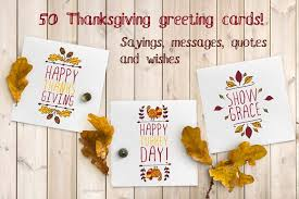 50 thanksgiving greeting cards illustrations creative market