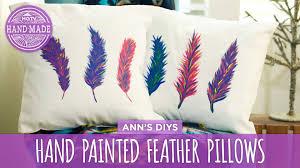 diy painted feather pillows hgtv handmade
