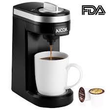 Singlek He Amazon Com Aicok Single Serve Coffee Maker Coffee Machine For
