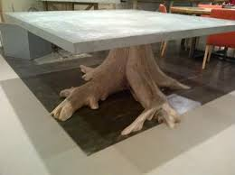 tree stump table base exceptional vintage tree trunk base with new square zinc top dining