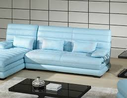 Baby Blue Leather Sofa Light Blue Leather Sofa 23 For Sofa Design Ideas With