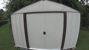 building an arrow 8x10 metal storage shed with instructions and