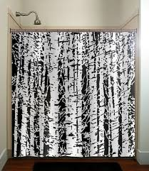 Tree Curtain Terrific Black And White Tree Shower Curtain 71 On Luxury Curtains