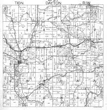 Dayton Map Dayton Township Richland County Wisconsin