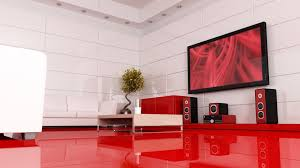 kitchen interior design with red mixed white backsplash combined