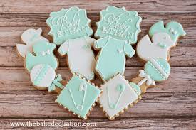baby shower cookies baby shower cookies the baked equation