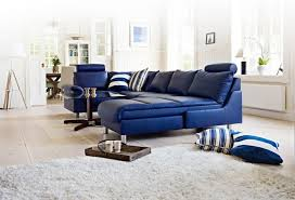 Leather Blue Sofa Blue Sofa 50 Interior Design Ideas With Sofa In Blue That Are