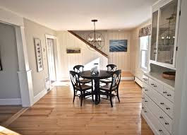 sopo cottage dining room and foyer before and after knotty pine