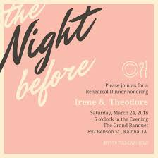 dinner invitation customize 93 rehearsal dinner invitation templates online canva