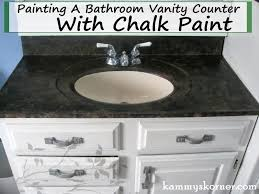 refinish bathroom sink top likeable remodelaholic painted bathroom sink and countertop makeover