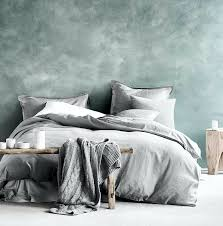 amazon com washed cotton chambray duvet cover solid color casual