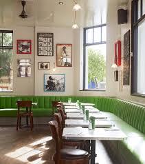 the draft house tower bridge restaurant design green seating