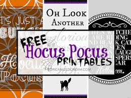 Happy Halloween Printable by The Organized Dream Free Hocus Pocus Printables Share Your