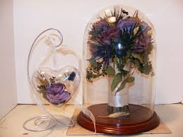 flower girl ornament glass dome and glass heart ornament make beautiful gifts for