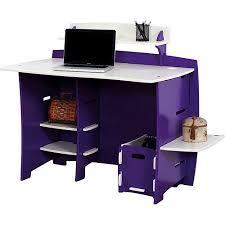 No Tools Assembly Desk Purple And White Walmart Com