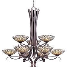 maxim lighting meridian 9 light umber bronze multi tier chandelier