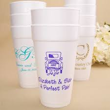 styrofoam cups wedding cups 20 oz styrofoam personalized