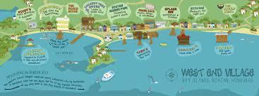 map of roatan honduras end roatán honduras by hale they draw travel