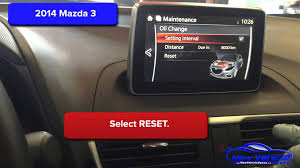 2014 mazda 3 oil light reset service light reset youtube