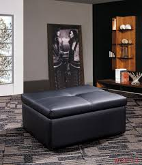 genuine leather sofa bed furniture with storage ottoman or
