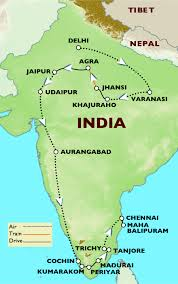 South India Map by 20 Days Grand Circle Of North And South India