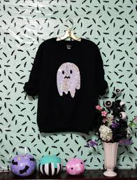 holographic uneasy ghost spoopy halloween by magiccircleclothing