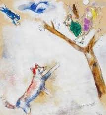 chagall sketch for moussorgsky and mozart 1965 marc chagall