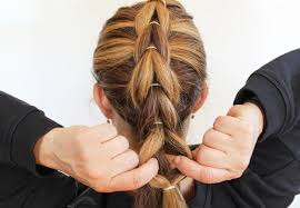 simple hairstyles with one elastic how to create a french pull through braid