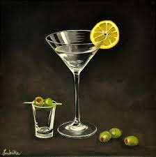 martini godard martini and olives canvas print canvas art by ambika