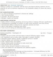 Bartender Resume Template 100 Exles Of Bartending Resumes How To Write A Report Of A
