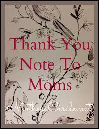 thank you note to mothers circle