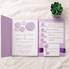 affordable pocket wedding invitations cheap simple lavender pocket wedding invitations ewpi124 as low as