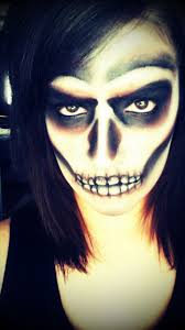 Creepy Makeup For Halloween by Creepy Halloween Skull Nice Nose Make Up Good Illusion Freak
