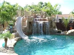 Backyard Pool With Slide Backyards With Pools Find This Pin And More On Pools Backyards