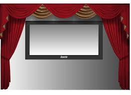 home theater stage amazon com saaria hdcwv120 curtain home movie theater screen hall