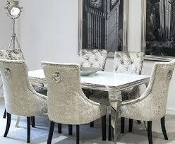 Velvet Dining Room Chairs Velvet Dining Room Chairs Astonishing Serge Living Riviera White