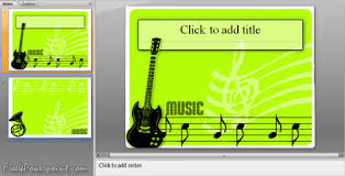 powerpoint templates music theme free download choice image
