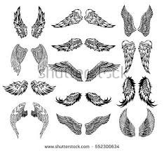 Wing Tattoos On - eagle wings stock images royalty free images vectors
