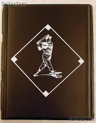 baseball photo album card album 4 pocket pages black by bcw team set folder