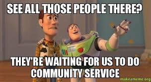 Volunteer Meme - volunteer and community service hours for college