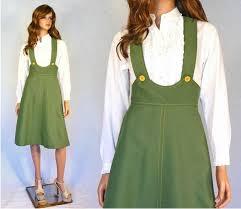 vtg 60 u0027s 70 u0027s flare skirt high waist suspender schoolgirl
