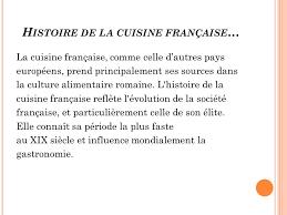 histoire de la cuisine et de la gastronomie fran軋ises les plats typiques français ppt télécharger